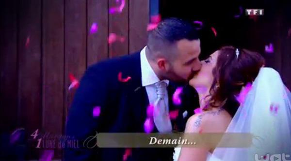 Mariage alexandra 4 mariages pour une lune de miel : la belle robe de mariée