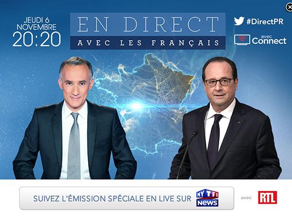 Hollande en direct avec les français le 6 novembre 2014 : avis positif ou négatif ?