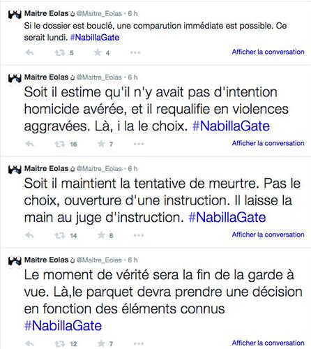Que risque Nabilla dans l'affaire Thomas Vergara ? / twitter Maitre Eolas