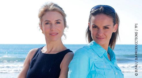Amandine et Valentine dans Camping Paradis sur TF1