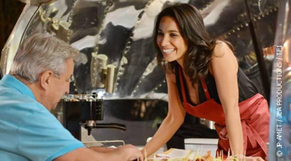 Julie et Xavier au centre de l'épisode Camping Paradis le gendre idéal du 05/01/2015
