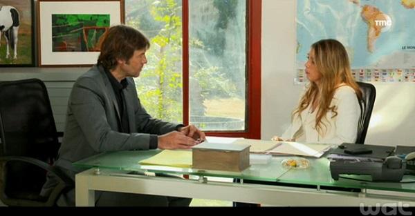 Hélène demande à Etienne de rester dans Les Mystères de l'Amour 8x02