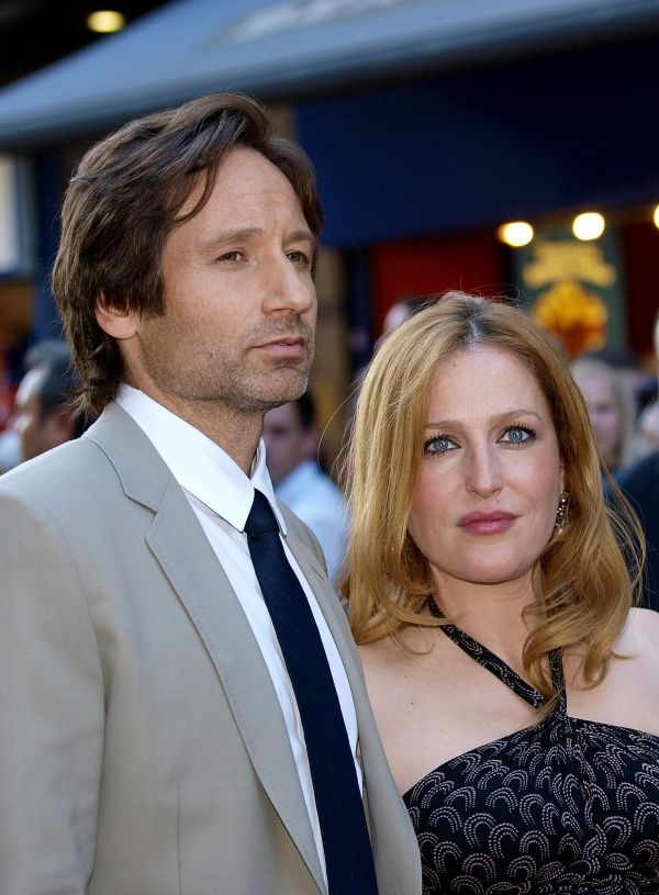 "David Duchovny et Gillian Anderson se sont fait connaître en incarnant Fox Mulder et Dana Scully dans ""X-Files"" ©AFP PHOTO/Max Nash / Article avec AFP Relaxnews"