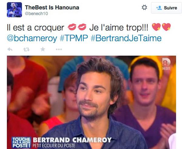 Avis sur Bertrand Chameroy sur D8 : vous l'aimez ? / Capture écran twitter