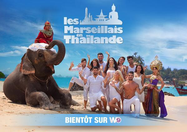 1ère photo promotionnelle de Les marseillais en Thailande W9 avec Julien, Steph, Jessica, Kim, Antonin, Paga...