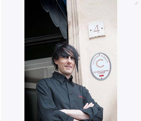 Candidat Top Chef 2015 dévoilé Olivier Streiff le gothique / Crédit photo : https://www.facebook.com/RestaurantDeQualite