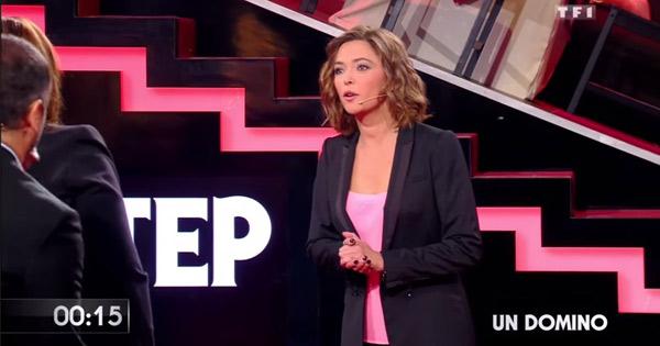 Sandrine Quétier dans masterchef 2015 sur TF1 comme animatrice / Capture écran VTEP