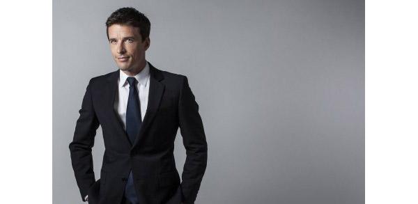 François Xavier Ménage au 19.45 de M6 pour 1 semaine / Crédit : Franck FERVILLE/M6