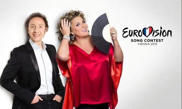 Marianne James à l'Eurovision 2015 avec Stéphane Bern vos avis et commentaires