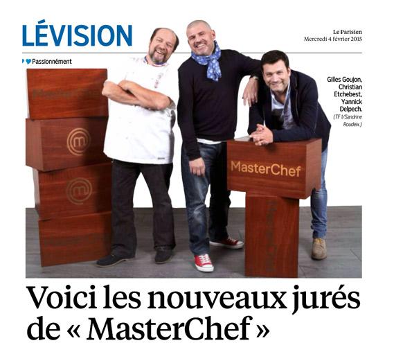 Nom du jury Masterchef 2015 sur TF1 : 3 chefs empathiques / capture écran le parisien