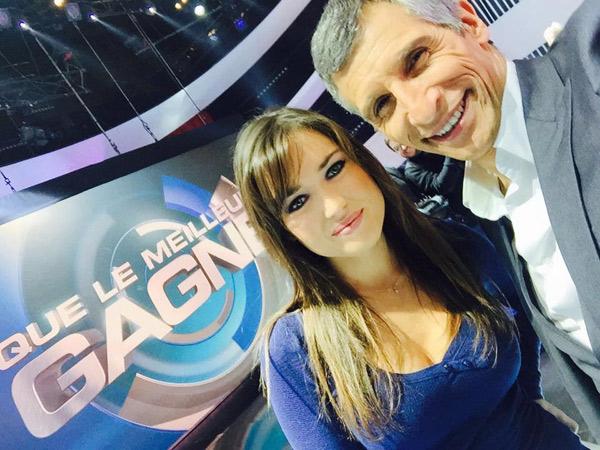Elsa Esnoult dans que le meilleur gagne de Nagui / Photo Facebook  ElsaEsnoultOfficiel
