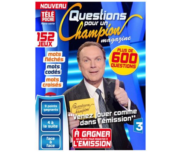 Avis sur le magazine questions pour un champion en maisons de la presse, librairie
