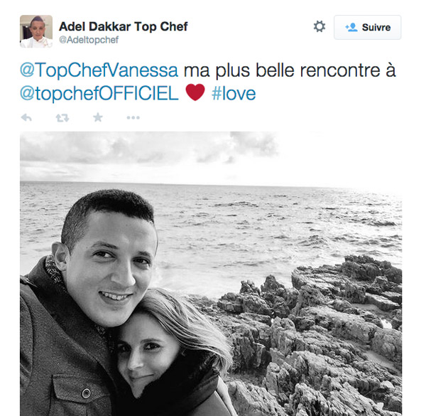 Love Story à Top Chef 2015 entre Vanessa et Adel : la photo
