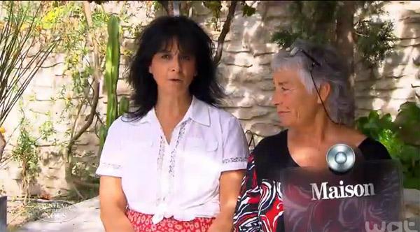 Réactions à la maison de Liliane et ELisabeth dans Bienvenue chez nous sur TF1