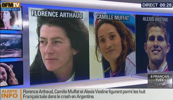 Réactions et témoignages suite au crash des sportifs de Dropped TF1 / Capture écran BFMTV