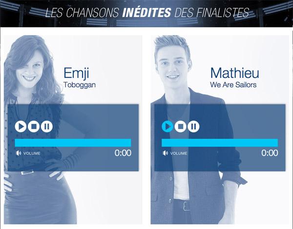 Le single d'Emji ou de Mathieu le meilleur à la Nouvelle Star 2015 ? #NouvelleStar