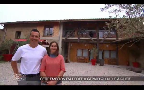 Message de TF1 dans Bienvenue chez nous pour signifier que Gérald est mort