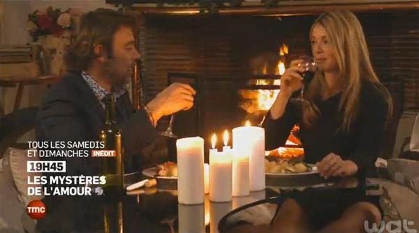 Hélène et Nicolas ensemble pour un dîner romantique dans les mystères de l'amour saison 9