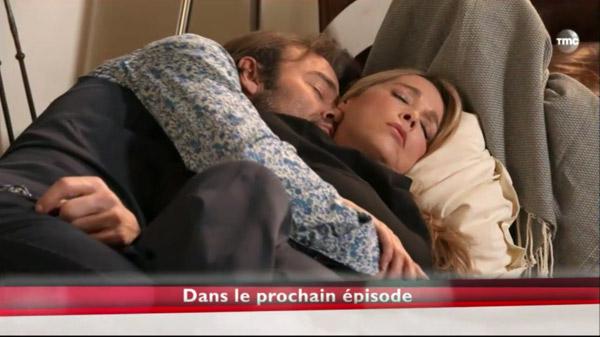 Nicolas et Héléne enlacés dans les mystères de l'amour 9x03