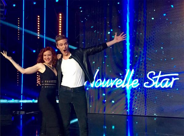 Emji et Mathieu en finale Nouvelle star 2015