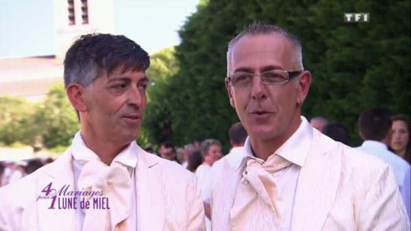 Stéphane et Philippe le bonheur du mariage gay dans 4 mariages : quelles notes ?