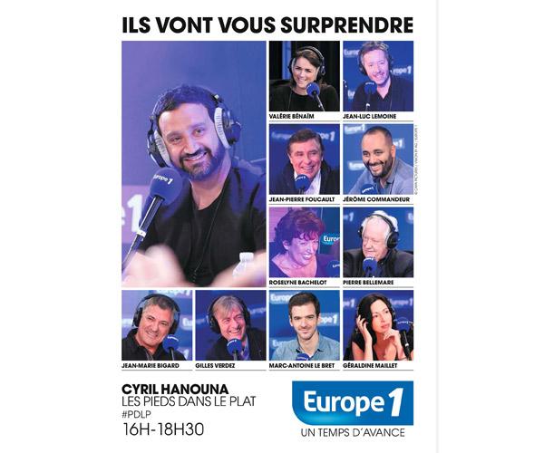 Cyril Hanouna de retour dans la grille Europe 1 des programmes de septembre 2015