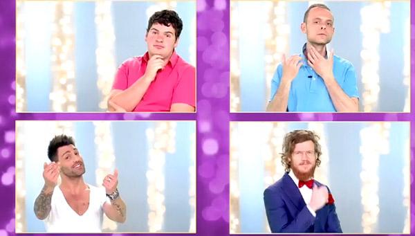 Jérémy, Dylan, Pietro et Geoffrey dans les princes de l'amour 3 #LPDLA3