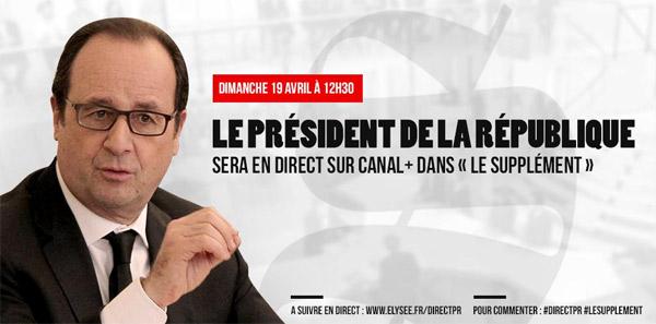 Avis et commentaires le supplément avec François Hollande de Canal +