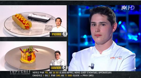 Xavier a perdu le choc des champions Top Chef 2015 malgré le vote positif des chefs