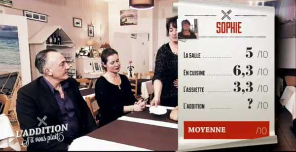 Les notes de Sophie dans l'addition s'il vous plait en Bretagne