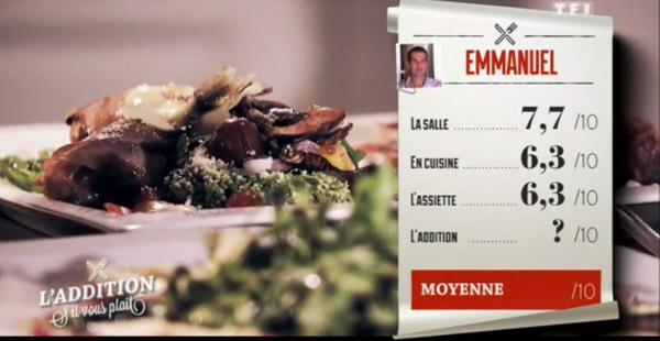 Les notes du restaurant de Manu dans l'addition SVP Belgique