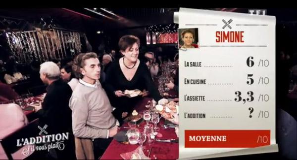 Simone l'addition 'il vous plait et son cabaret parisien : les notes