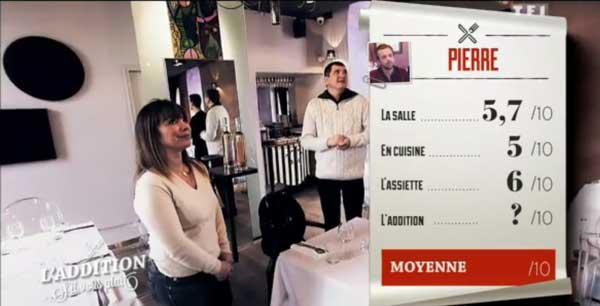Les notes de Pierre dans l'addition s'il vous plait de TF1