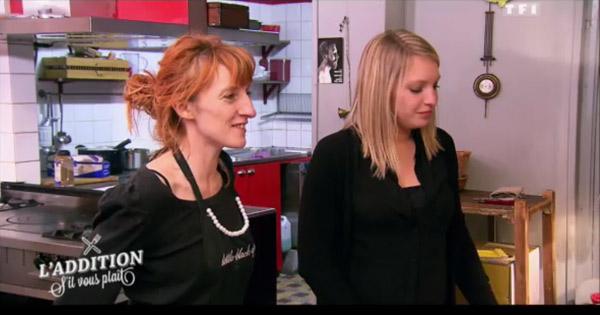 Marjorie et son amie pour le resto atypique de l'addition SVP de TF1