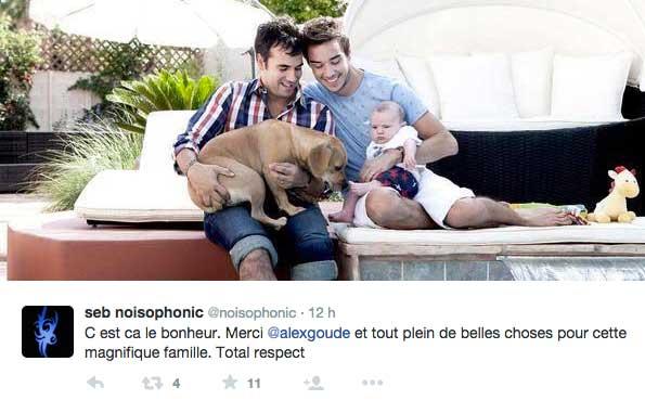Débat sur la GPA et photos d'Alex Goude dans Gala avec son mari Romain et son bébé Eliott