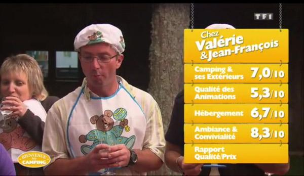 Les notes de Valérie et Jean François de Bienvenue au camping : sont-ils les gagnants de la semaine?