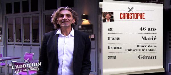 Avis et adresse du restaurant de Christophe où on mange à l'aveugle sur Paris de l'addition s'il vous plait / Capture écran TF1
