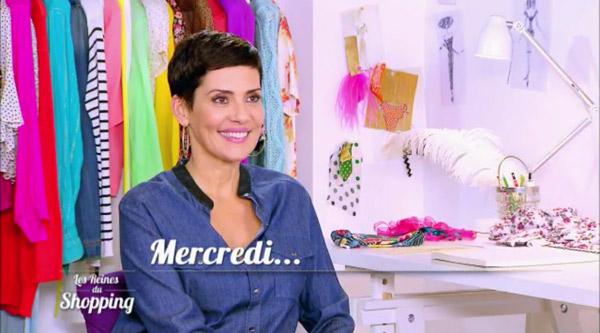 Cristina Cordula dans les reines du shopping pour le cocktail de l'inauguration d'une expo