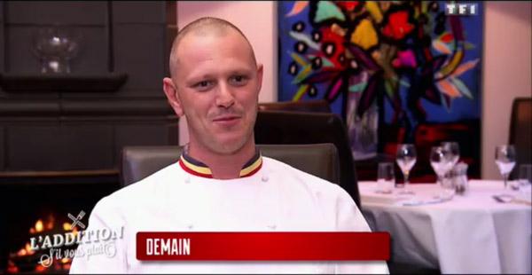Gaetan le chef beau gosse en belgique pour l'addition s'il vous plait de TF1