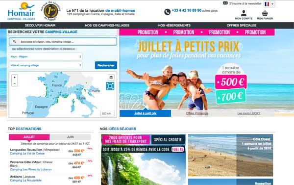 Envie de réserver vos vacances dans les campings Homair Vacances en 2015 ?  / Capture écran