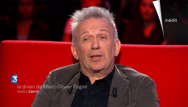 Avis et commentaires sur le Divan de Fogiel avec Jean Paul Gaultier le couturier star