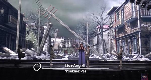 Lisa Angell quel classement à l'Eurovision 2015 ? / Capture écran