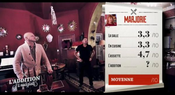 Les notes de Marjorie dans l'addition S'il vous Plait Belgique : Hatem a été très dur