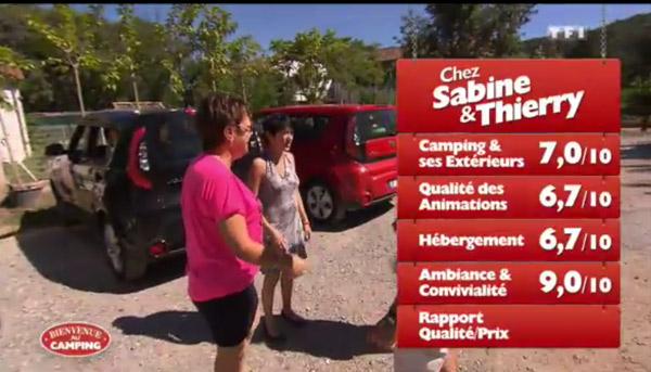 Les excellentes notes de Sabine et Thierry de Bienvenue au camping lundi 04/05