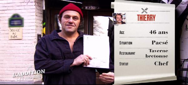 Les avis et l'adresse du resto taverne de Thierry à Paris de l'addition s'il vous plait de TF1