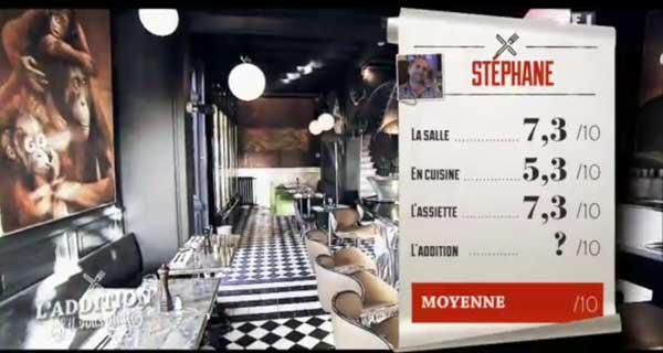 Les notes de Stéphane dans l'addition svp