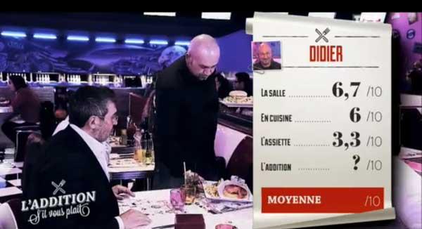Les notes de Thierry dans l'addition s'il vous plait TF1