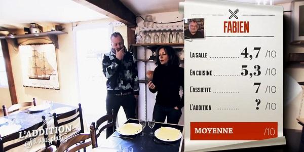 Les notes du restaurant de Fabien de l'addition SVP