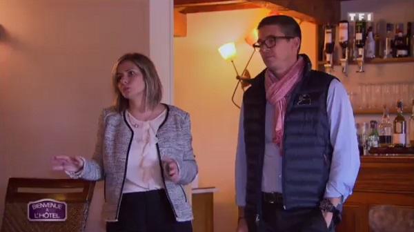Auddrey et Philippe de Bienvenue à l'hôtel sur TF1