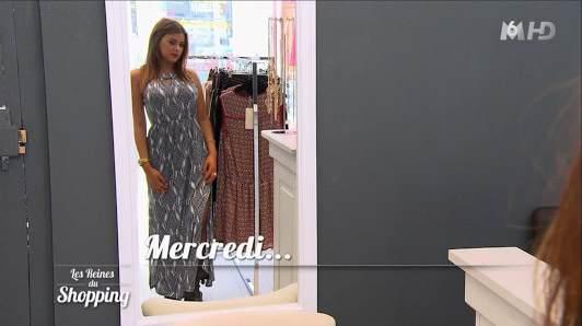 Robe longue de Julia dans les reines du shopping journée 3
